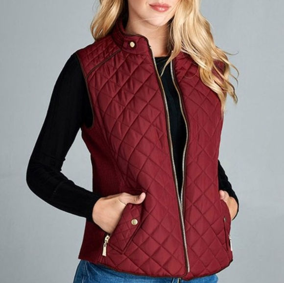 Ralph Lauren Polo Burgundy Quilted Vest Small